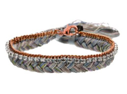 Alyssa Norton brassand Pastel Silk Braided Bracelet