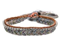 Alyssa Norton brassand Pastel Silk Braided Bracelet